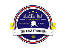 Day Alaska in the United States of America. Stamp. Sticker. Stock Images