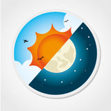 Day And Night Royalty Free Stock Photos