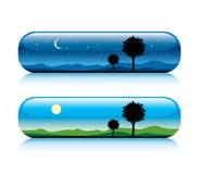 Day And Night Nature Button Royalty Free Stock Photo