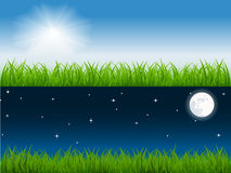 Day And Night Vector Scene Stock Image