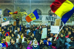 Day 4 Anti-corruption protests in Bucharest Stock Images