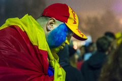 Day 4 Anti-corruption protests in Bucharest Stock Photos