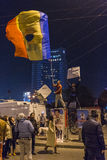 Day 3 Anti government protesters in Bucharest Stock Photography