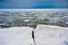 Day at Baikal Lake. Spring floating of ice Stock Images