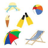 A Day at The Beach Royalty Free Stock Images