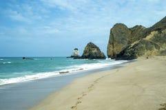 A Day at the Beach in Ecuador Royalty Free Stock Photo