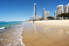 Surfers Paradise beach, Gold Coast Royalty Free Stock Images