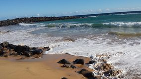 Day at the beach. Kapaa Kauai Hi Stock Photo