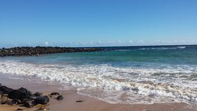 Day at the beach. Kapaa Kauai Hi Royalty Free Stock Image