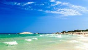 The beach of Costa Rei, Sardinia Stock Photo