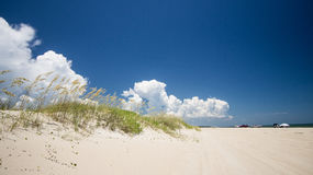 A day at the beach. The weather was picture perfect for a an outing on Fort Fisher Stock Images