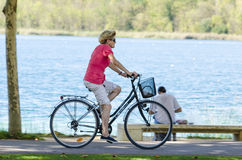Day of bicycle Stock Photography