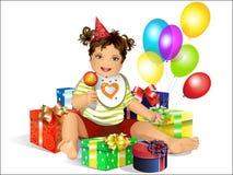 Day of birth stock illustration