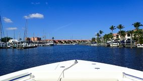 A day boating at a marina in Florida royalty free stock images