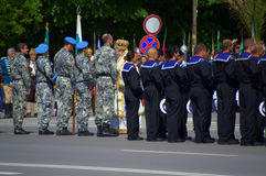 The Day of Bravery and Bulgarian Army. On the occasion of May 6 -St George's Day in Bulgaria-the Day of Bravery and Bulgarian Army representative blocks with Royalty Free Stock Photos