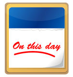 On this day calendar Royalty Free Stock Photo