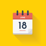 Day calendar with date June 18, 2017. Vector illustration Stock Image