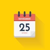 Day calendar with date November 25, 2017. Vector illustration. Royalty Free Stock Photos