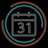 31 day Calendar icon. vector royalty free illustration