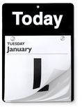 Day Calendar orthographic view Stock Photos