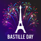 The day of the capture of the Bastille. Vector illustration for a holiday. Stock Images