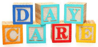 Day Care in Alphabet Blocks Stock Image
