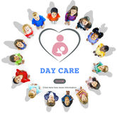 Day Care Babysitter Nanny Nursery Love Motherhood Concept. Day Care Babysitter Nanny Nursery Love Motherhood stock photos