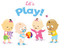 Day care kids royalty free illustration