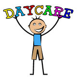 Day Care Represents Childrens Club And Children's. Day Care Meaning Childrens Club And Kid's Stock Photo