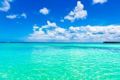 Day caribbean sea sky cloud Stock Images