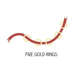 12 day of christmas - five gold rings. 12 day of christmas -  five gold rings Royalty Free Stock Image