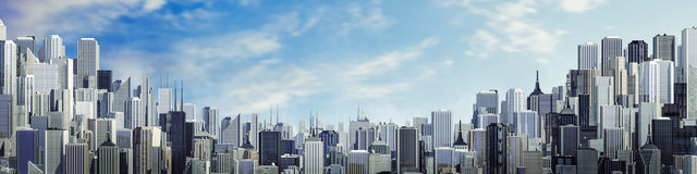 Day city panorama copy space Royalty Free Stock Image