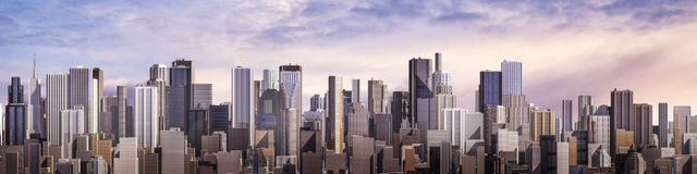 Day city panorama Royalty Free Stock Photography