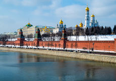 Day close up view of the Kremlin in Moscow Royalty Free Stock Image