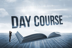 Day course against open book against sky Stock Photos