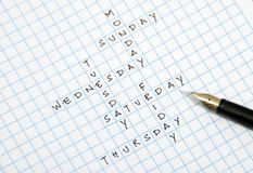 Day crossword Royalty Free Stock Photography