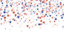 Day de presidentes en los E.E.U.U. Estrellas rojas, azules y blancas ilustración del vector