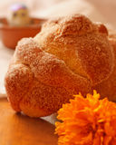 Day of the Dead. Traditional bread for Day of the Dead or Dia de Muertos oferings Stock Image