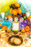 Day of the dead altar (Dia de Muertos) royalty free stock photos
