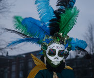 Day of the Dead, Amsterdam. Parade of Mexicans dressed up in beautiful costumes celebrating 'El Dia de los Muertos, Amsterdam Stock Images