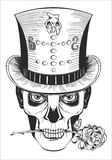 Day of the dead, baron samedi drawing. Vector Stock Photography