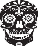 Day of the Dead Black Vector Sugar Skull Royalty Free Stock Images