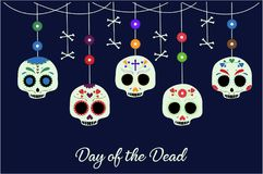 Day of the dead. Card or background. vector illustration royalty free illustration