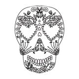 Day of Dead colorful skull with ornament Royalty Free Stock Photos