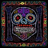Day of The Dead Colorful Sugar Skull Stock Photo