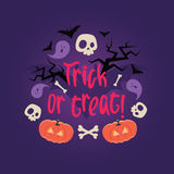 Day of the dead colorful vector card. Royalty Free Stock Photo
