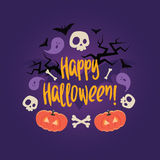 Day of the dead colorful vector card. Stock Photography