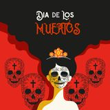 Day of the dead concept royalty free illustration