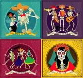 Day of the Dead. Dia de los Muertos . Invitation poster to the Day of the dead party. Dea de los muertos card Royalty Free Stock Images