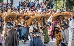 Day of the dead Dia de los Muertos parade in Mexico city - Mexico Royalty Free Stock Image